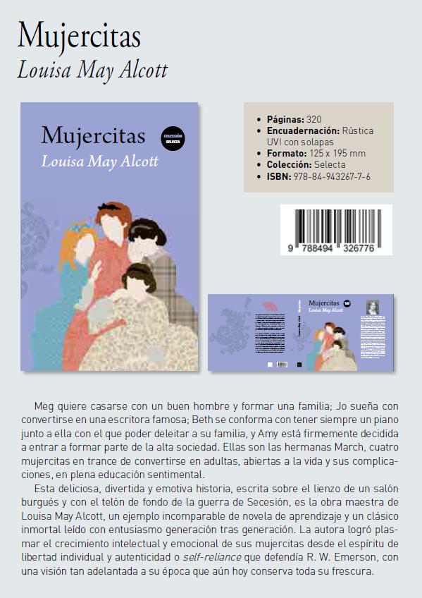 Mujercitas de Louisa May Alcott. Colección Selecta editorial Biblok