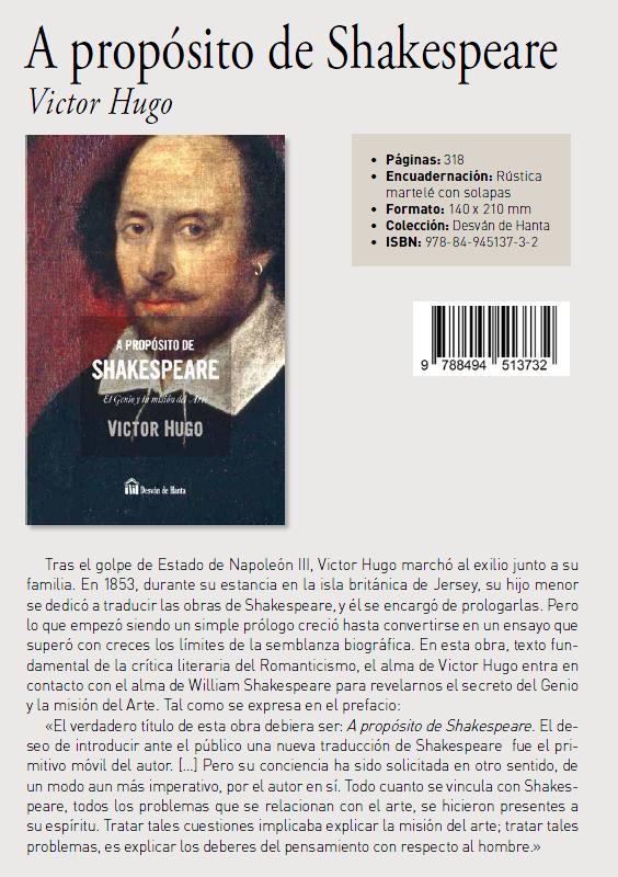 A propósito de Shakespeare por Victor Hugo
